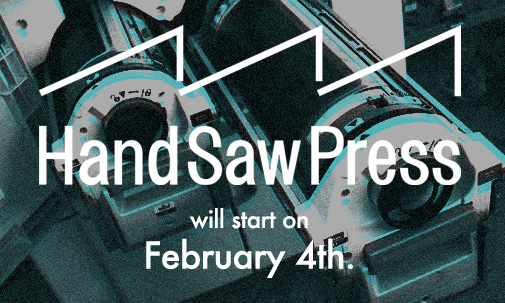 hand saw press opening event on 4th Feb.